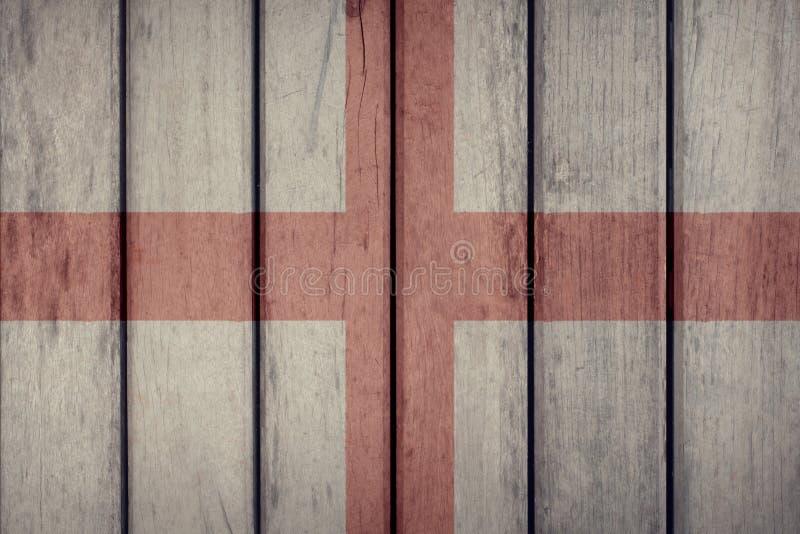 Загородка флага Англии деревянная стоковые фотографии rf