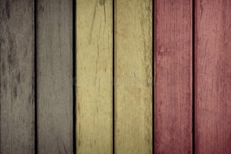 Загородка флага Бельгии деревянная стоковое фото rf