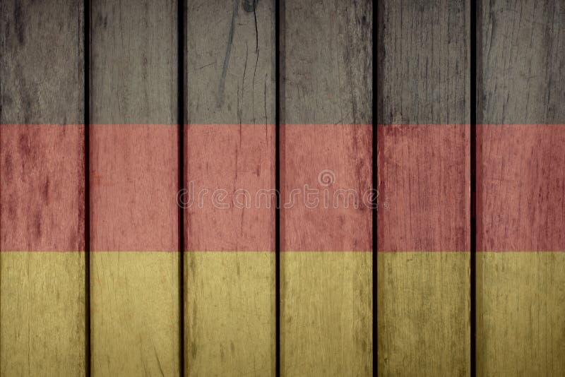 Загородка флага Германии деревянная стоковое фото