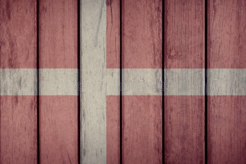 Загородка флага Дании деревянная стоковые фото