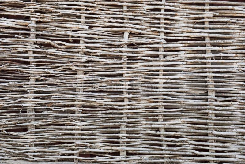 Загородка Wattle сухих хворостин стоковые изображения rf