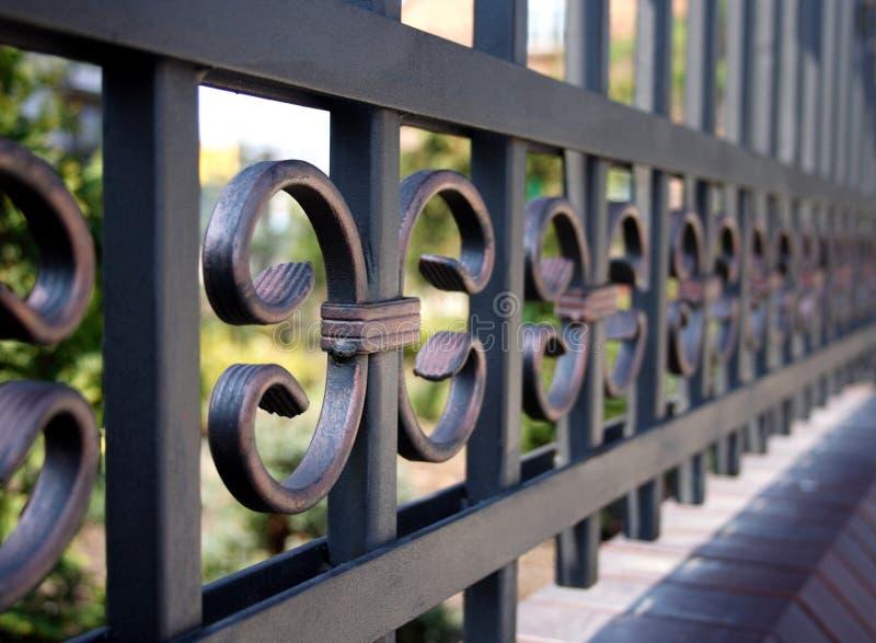 Загородка металла - конец-вверх стоковое изображение rf