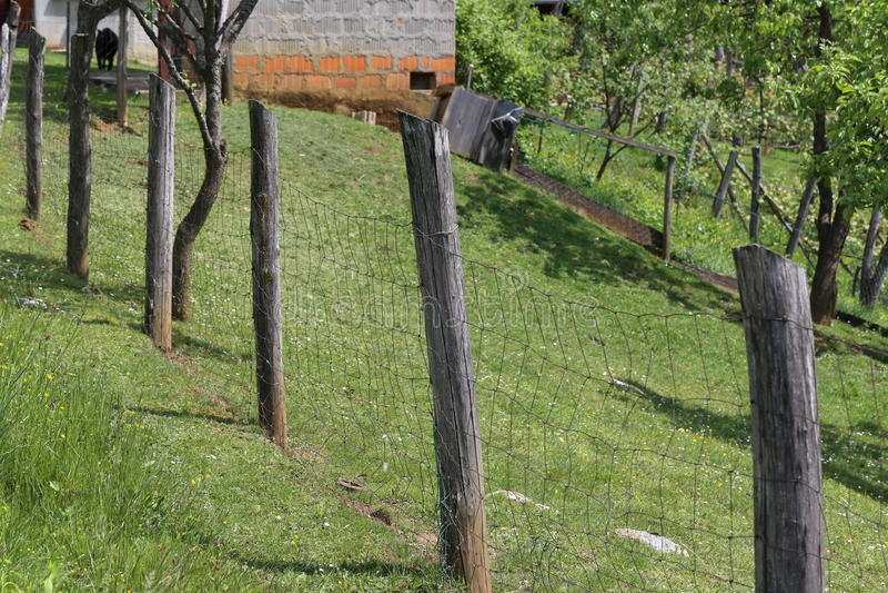 Загородка решетины стоковая фотография