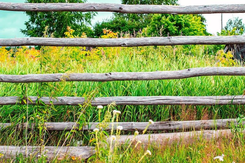 загородка сельская стоковое фото