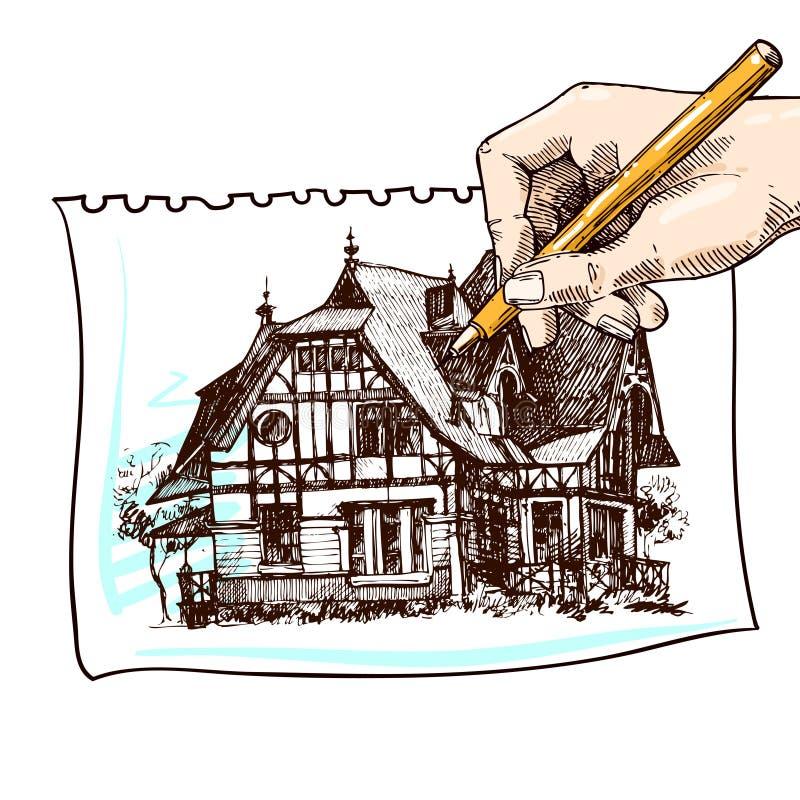 загородный дом иллюстрации бесплатная иллюстрация