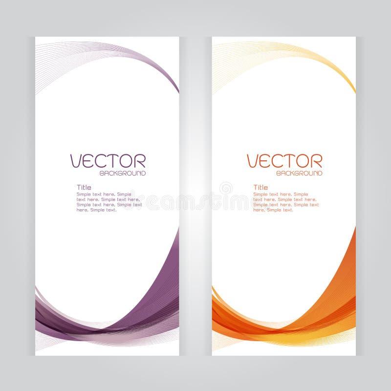 Заголовка конспекта предпосылки вектора вектор whit волны установленного фиолетовый оранжевый иллюстрация вектора