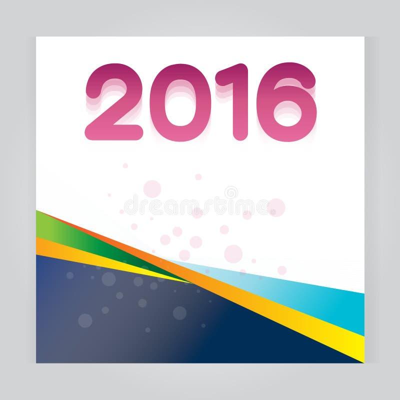 Заголовка конспекта предпосылки вектора синь 2016 красочная, апельсин, ye установленного иллюстрация штока