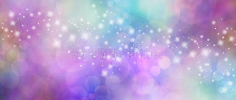 Заголовок вебсайта красивого пестротканого bokeh sparkly иллюстрация вектора