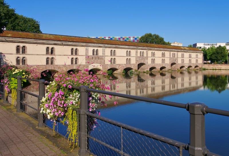 Заграждение Vauban в страсбурге, Эльзасе стоковые фото