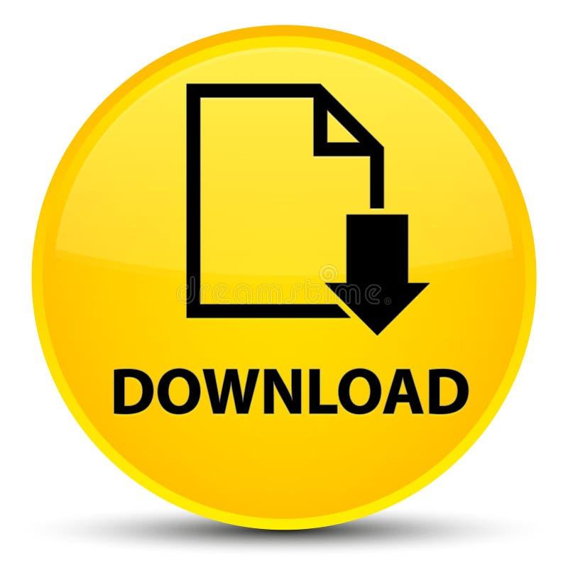 Загрузите (значок документа) специальную желтую круглую кнопку иллюстрация вектора