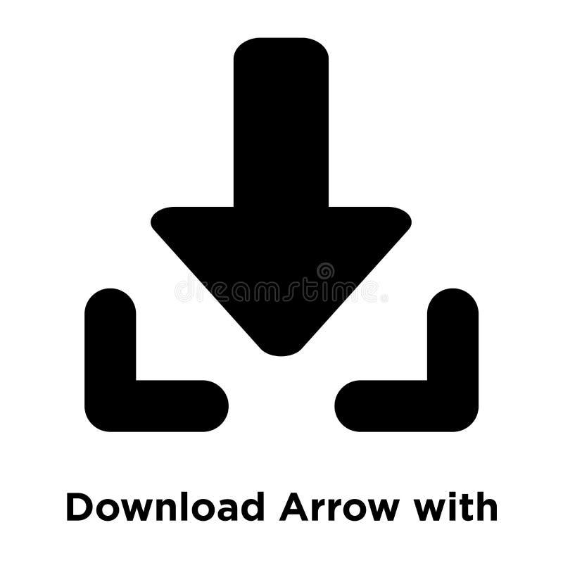 Загрузите стрелку с линией вектором значка изолированную на белом backgroun бесплатная иллюстрация