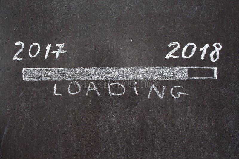 Загрузка знака с 2018 год стоковое изображение rf