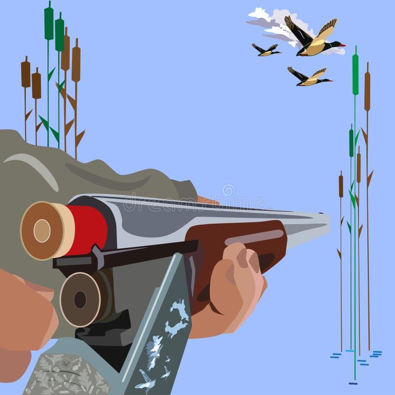 Загрузка иллюстрации вектора концепции винтовки в плоском дизайне стиля иллюстрация штока