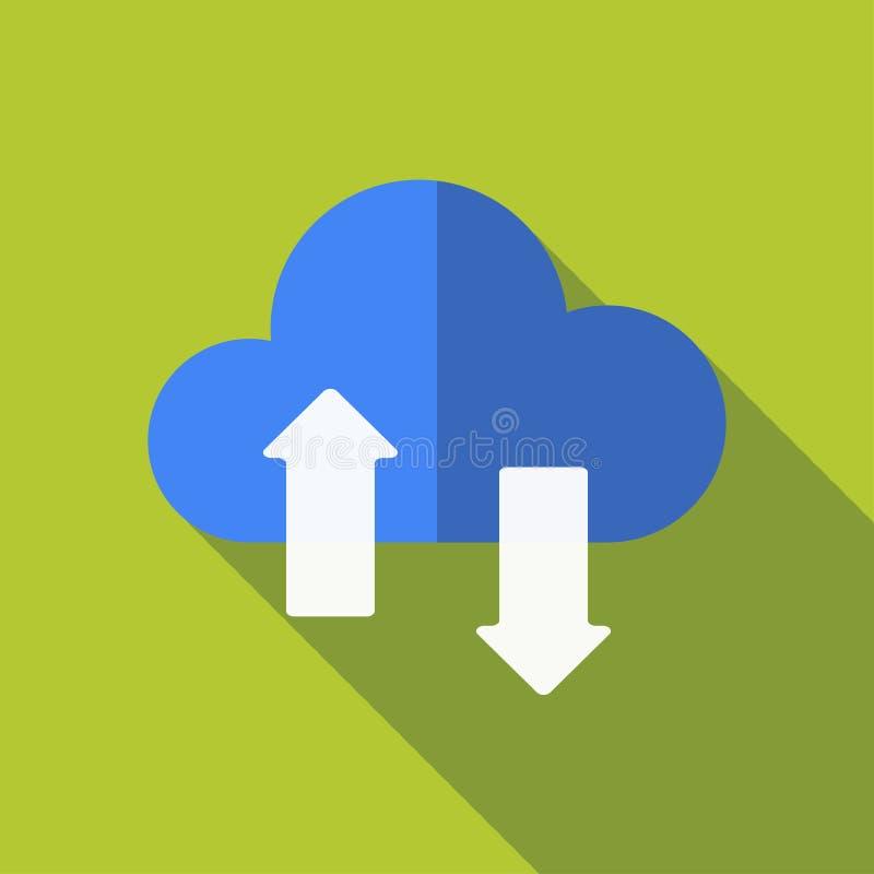 Загрузка облака, плоский дизайн стоковое фото rf