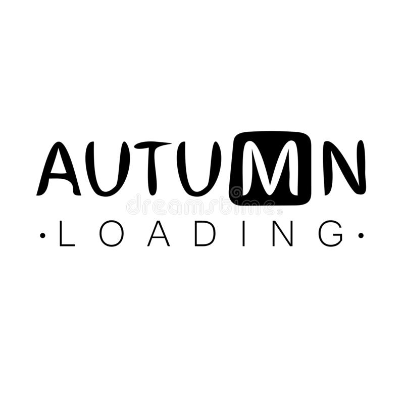 Загрузка осени Осень начинает творческую концепцию Дизайн бара прогресса иллюстрация вектора
