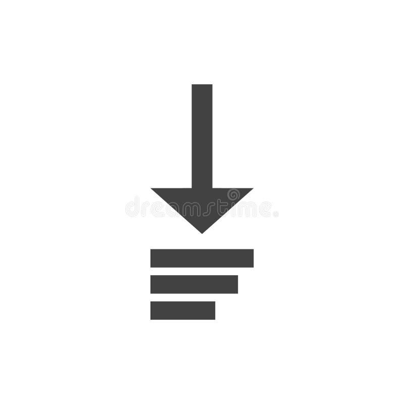 Загрузка теперь! Плоский дизайн значка бесплатная иллюстрация