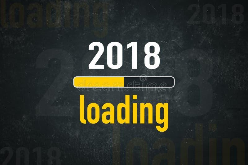 Загрузка 2018 экрана иллюстрация штока