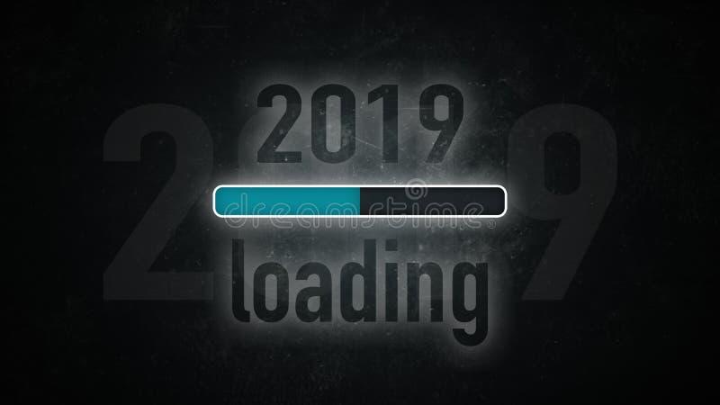 Загрузка 2019 экрана иллюстрация вектора
