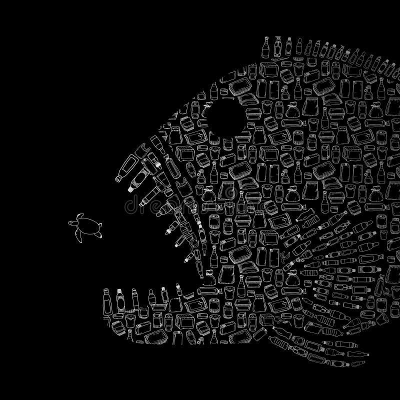 Загрязнение воды - дьявол деталей бесплатная иллюстрация