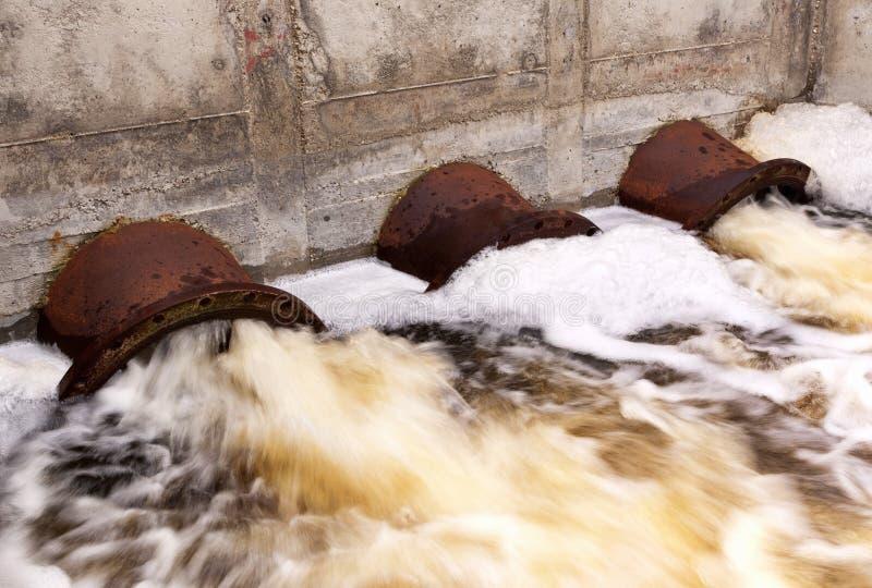 Загрязнение воды стоковое фото