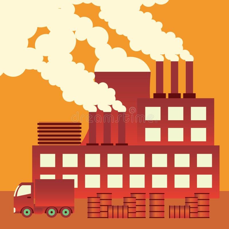 Загрязнение воздуха. иллюстрация вектора