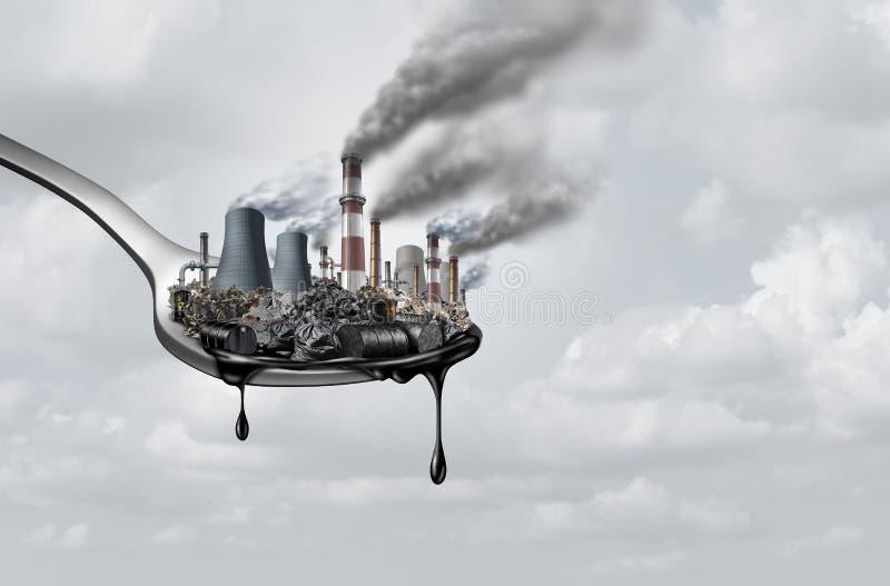 Загрязнение в еде иллюстрация вектора