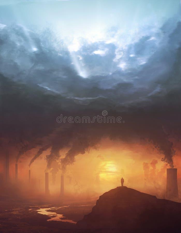Загрязнение и солнечный свет стоковое изображение rf