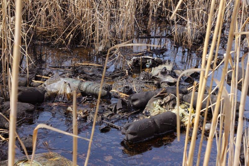 загрязнение масла стоковое изображение rf