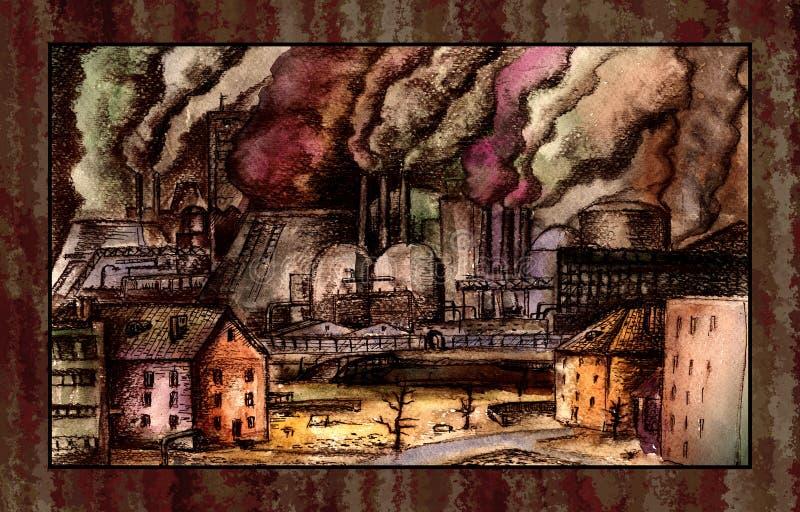 загрязнение окружающей среды иллюстрация штока