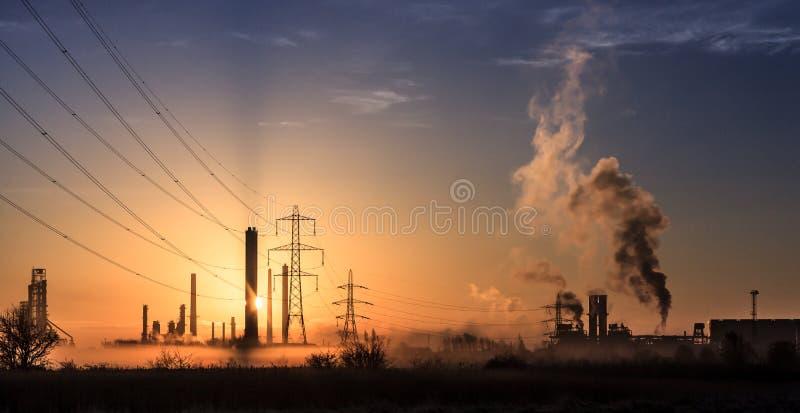 Загрязнение 6 утра стоковое изображение rf