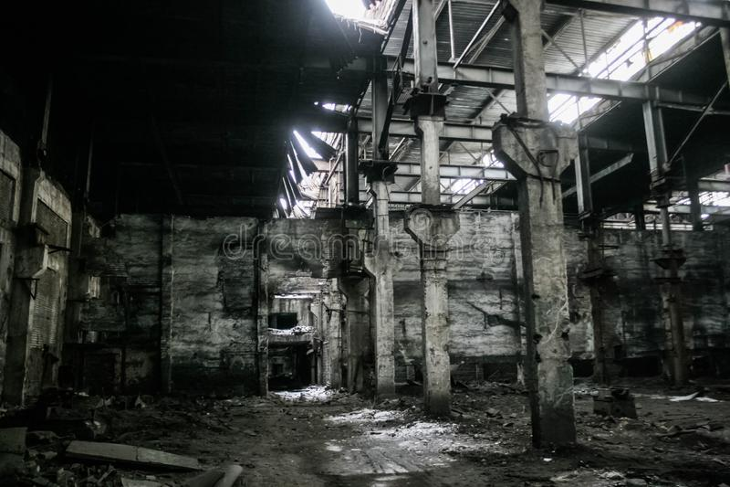 Загубленная советская фабрика стоковое изображение rf
