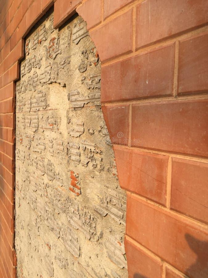 Загубленная кирпичная стена стоковое изображение rf