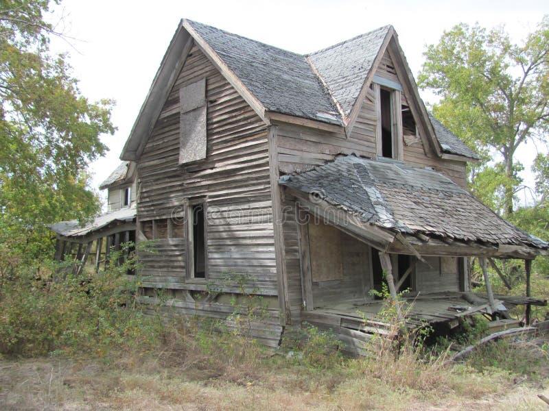 Загубленный дом в Техасе стоковая фотография rf