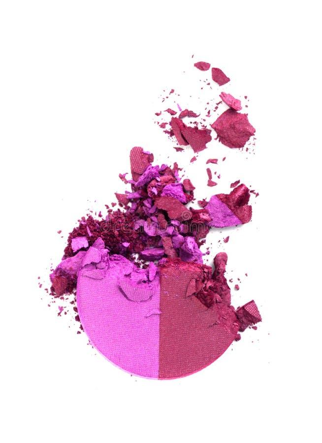 задавленная белизна изолированная eyeshadow розовая стоковая фотография rf