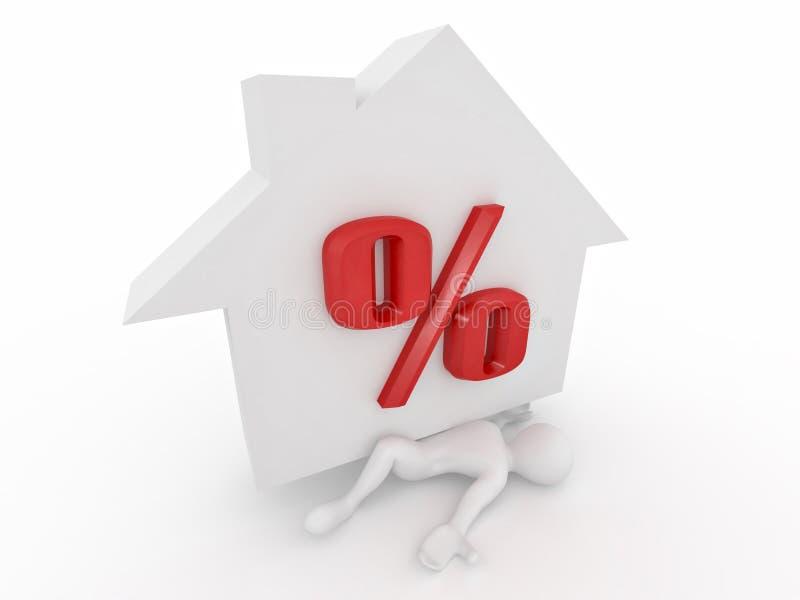 задавленные проценты человека hypothec бесплатная иллюстрация