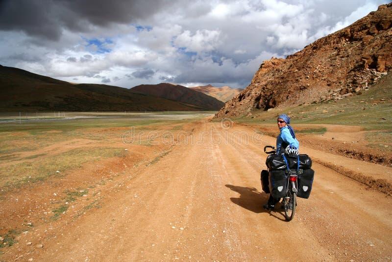 Задействовать через Тибет стоковое изображение rf