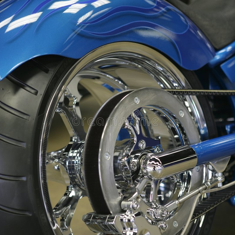 задий мотоцикла конца стоковое фото
