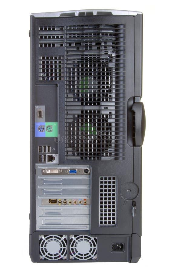 задий настольного компьютера компьютера стоковые фото