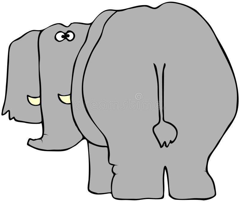задий слона иллюстрация штока