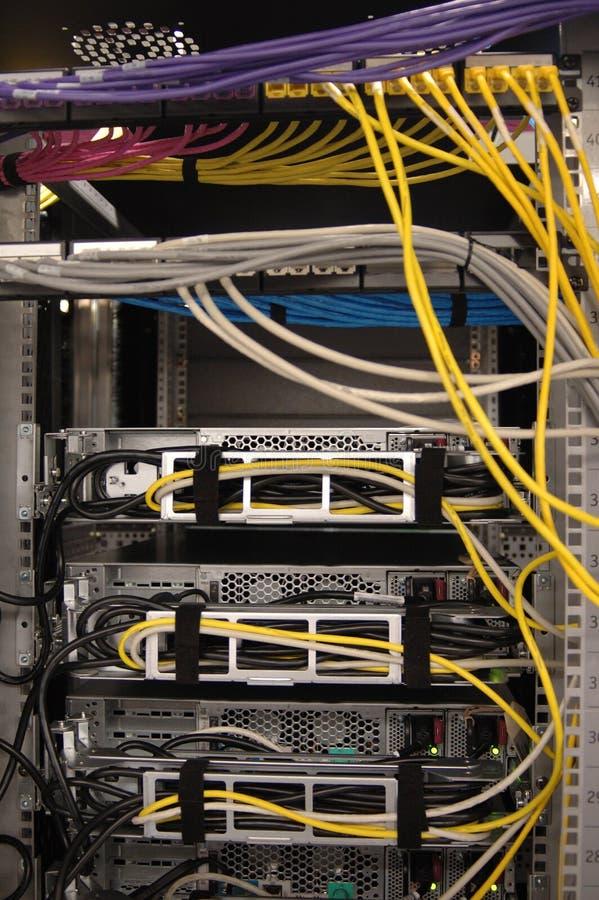 задий шкафа datacenter ii стоковые изображения rf