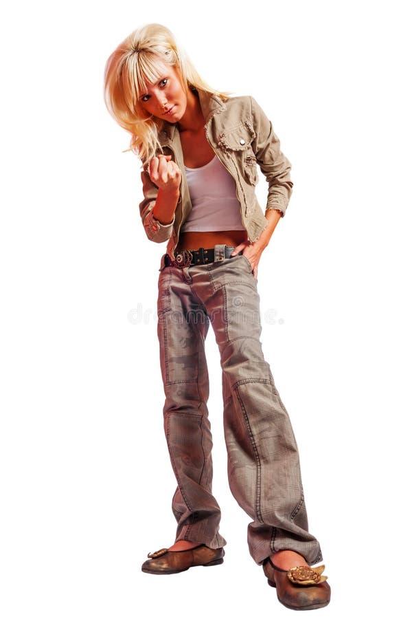 Задира девушки подростка стоковые фотографии rf