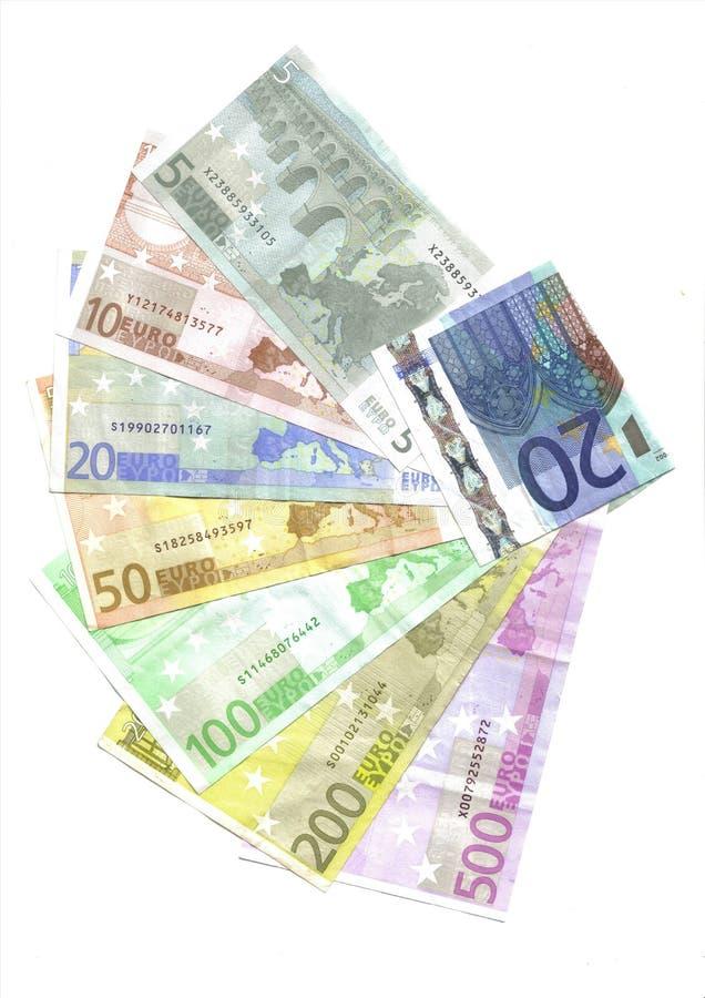 задние примечания евро стоковое фото