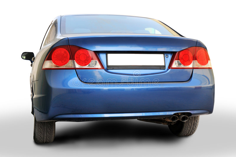 задний гражданский Хонда стоковая фотография rf