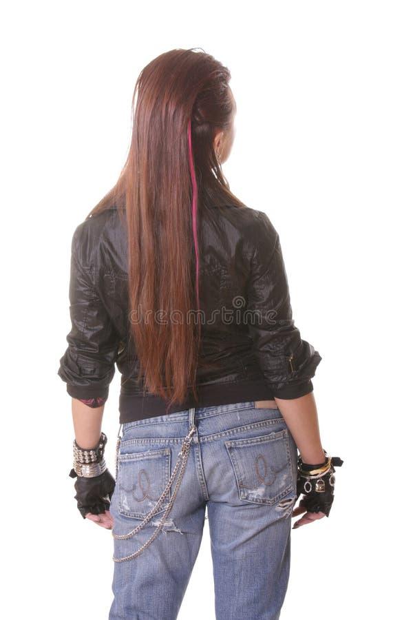 задний повернутый панк девушки стоковое фото rf