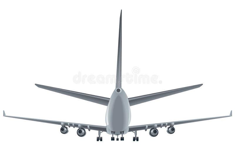 Задний самолет пассажира взгляда бесплатная иллюстрация