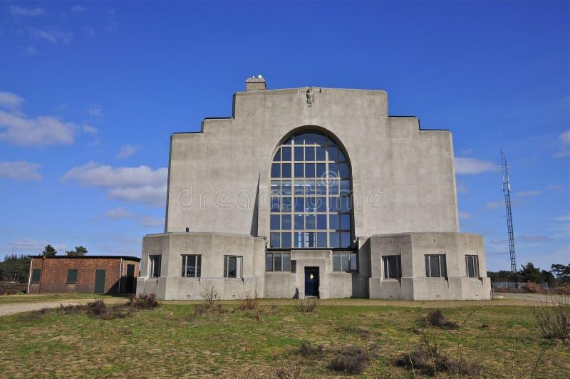 Задний фасад построения a радио Kootwijk, Нидерланд стоковая фотография rf