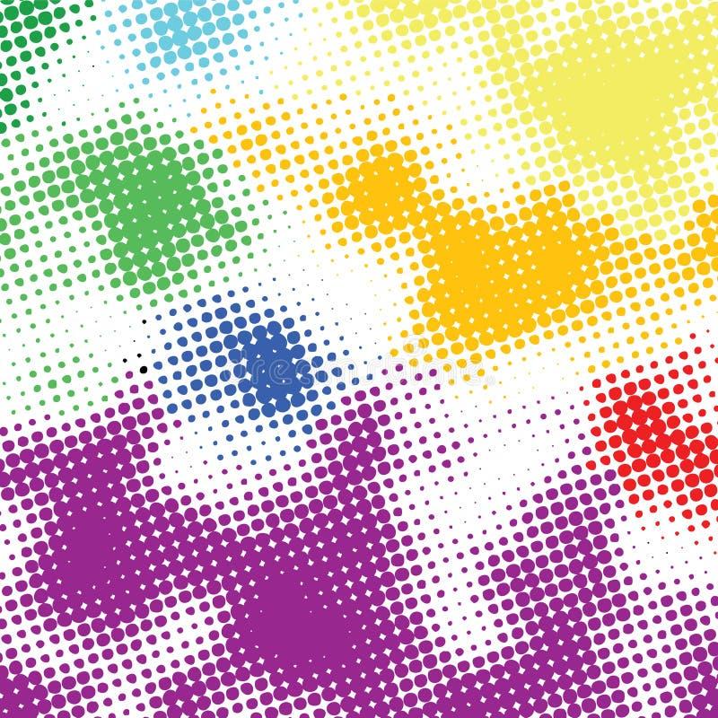 задний цветастый halftone случайный иллюстрация штока