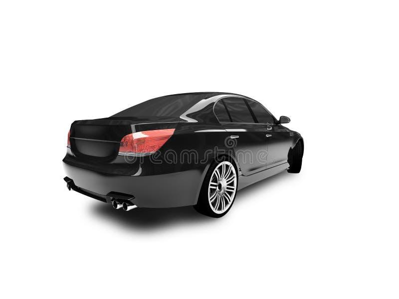 задним черным взгляд изолированный автомобилем бесплатная иллюстрация