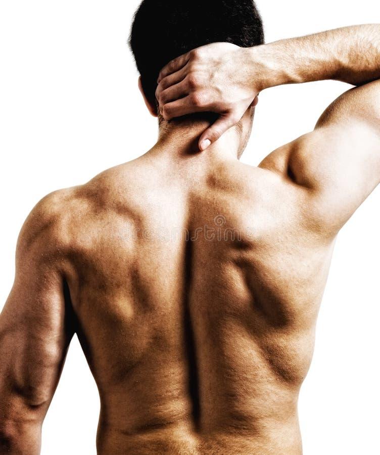 задняя боль шеи стоковое фото