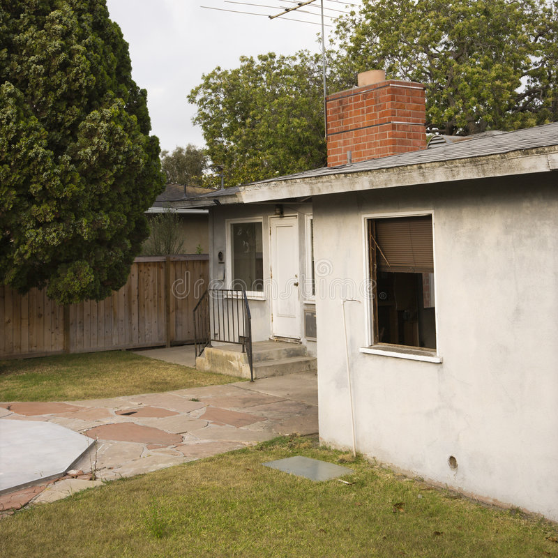задняя дом стоковые фотографии rf